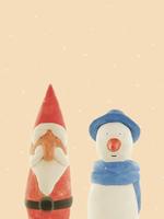 サンタとスノーマン 10610000241| 写真素材・ストックフォト・画像・イラスト素材|アマナイメージズ