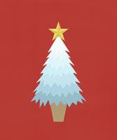 白いクリスマスツリー 10610000245| 写真素材・ストックフォト・画像・イラスト素材|アマナイメージズ