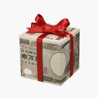 お札のプレゼント箱 10610000363| 写真素材・ストックフォト・画像・イラスト素材|アマナイメージズ