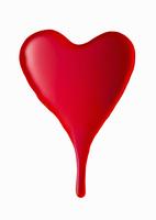 血のハート 10610002350| 写真素材・ストックフォト・画像・イラスト素材|アマナイメージズ