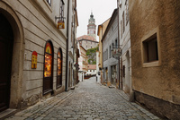 チェスキークルムロフの街かどと城 チェコ共和国