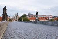 カレル橋とプラハ城 プラハ チェコ共和国