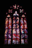 聖ヴィート大聖堂のステンドグラス プラハ チェコ共和国