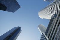 名古屋駅周辺と高層ビル群 10610003752| 写真素材・ストックフォト・画像・イラスト素材|アマナイメージズ
