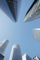名古屋駅周辺と高層ビル群 10610003758| 写真素材・ストックフォト・画像・イラスト素材|アマナイメージズ