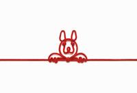 赤い紐でつくった犬(戌)のイメージ 10610003803| 写真素材・ストックフォト・画像・イラスト素材|アマナイメージズ