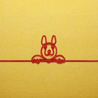 赤い紐でつくった犬(戌)のイメージ 10610003804| 写真素材・ストックフォト・画像・イラスト素材|アマナイメージズ