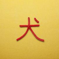 赤い紐でつくった犬の文字 10610003808| 写真素材・ストックフォト・画像・イラスト素材|アマナイメージズ