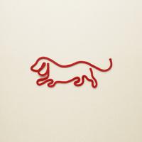 赤い紐でつくった犬(戌)のイメージ 10610003812| 写真素材・ストックフォト・画像・イラスト素材|アマナイメージズ