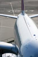 飛行場の旅客機