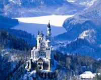 厳冬期のノイシュバンシュタイン城