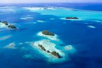 ロック・アイランドの島々空撮