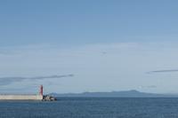 灯台と国後島
