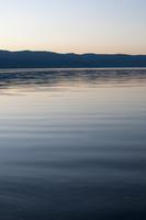 夕暮れと屈斜路湖