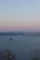 斜里岳と摩周湖夕景