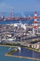 水島臨海工業地帯 10625000200  写真素材・ストックフォト・画像・イラスト素材 アマナイメージズ