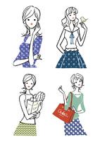 生活を楽しむ私服の若い女性 10653000003| 写真素材・ストックフォト・画像・イラスト素材|アマナイメージズ