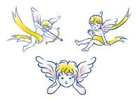 天使3パターン 10653000005| 写真素材・ストックフォト・画像・イラスト素材|アマナイメージズ
