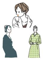 生活を楽しむ私服の女性