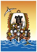 七福神と宝船 10653000016| 写真素材・ストックフォト・画像・イラスト素材|アマナイメージズ
