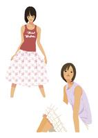 生活を楽しむ私服の女性(線なし) 10653000019| 写真素材・ストックフォト・画像・イラスト素材|アマナイメージズ