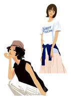 生活を楽しむ私服の女性(線なし) 10653000021| 写真素材・ストックフォト・画像・イラスト素材|アマナイメージズ