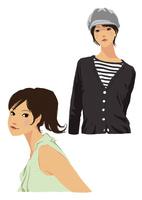 生活を楽しむ私服の女性(線なし) 10653000022| 写真素材・ストックフォト・画像・イラスト素材|アマナイメージズ