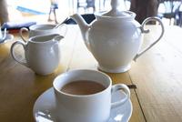カフェでミルクティー