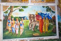 像が居る絵の壁画