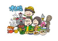 札幌を観光する家族 10663000005| 写真素材・ストックフォト・画像・イラスト素材|アマナイメージズ
