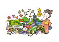 京都観光をする女性1人 10663000006| 写真素材・ストックフォト・画像・イラスト素材|アマナイメージズ