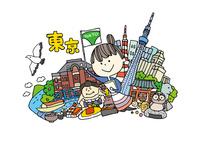 東京観光をする女性1人 10663000012| 写真素材・ストックフォト・画像・イラスト素材|アマナイメージズ