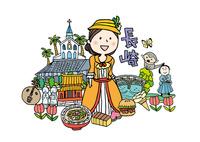 長崎観光をする女性1人 10663000023| 写真素材・ストックフォト・画像・イラスト素材|アマナイメージズ