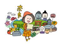 奈良観光をする女性1人 10663000025| 写真素材・ストックフォト・画像・イラスト素材|アマナイメージズ