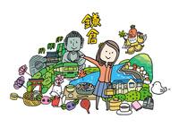 鎌倉観光をする女性1人 10663000029| 写真素材・ストックフォト・画像・イラスト素材|アマナイメージズ