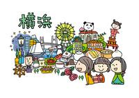横浜観光をする女性3人 10663000037| 写真素材・ストックフォト・画像・イラスト素材|アマナイメージズ