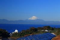 富士山の見える佐島が丘メガソーラープラント