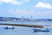 神奈川県 走水海岸の漁船