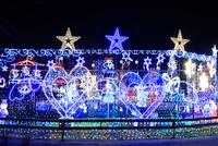 神奈川県 宮ヶ瀬のクリスマスイルミネーション 10669004497| 写真素材・ストックフォト・画像・イラスト素材|アマナイメージズ