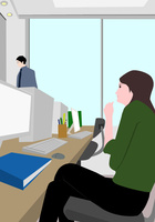 オフィス 10672000006| 写真素材・ストックフォト・画像・イラスト素材|アマナイメージズ