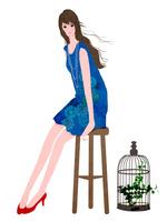 座る女性 10672000020| 写真素材・ストックフォト・画像・イラスト素材|アマナイメージズ