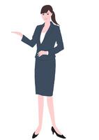 会社案内をする女性