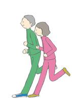 ジョギングをする老人