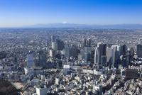 新宿駅・新線新宿駅空撮 東側より富士山方面