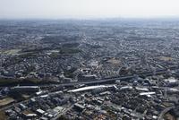 江田駅空撮 北西側よりセンター南・横浜方面へ