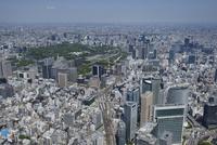 新橋駅空撮 南側より皇居・東京駅方面へ