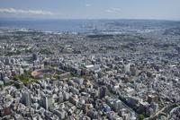 関内駅空撮 北側より横浜港を望む