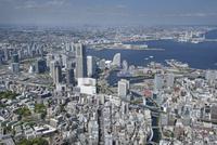 桜木町駅空撮 南西側よりみなとみらい・都心方向を望む