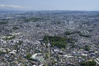 弘明寺駅空撮 北側より上大岡・久良岐公園方面へ