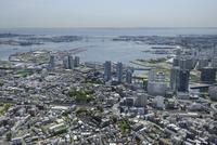 神奈川駅空撮 北西側よりベイブリッジ方面へ